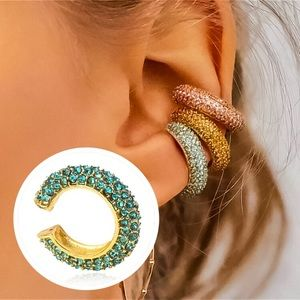⚜️[𝟯/$𝟯𝟴]⚜️Turquoise Crystal Gold Ear Cuff NEW